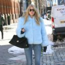 Elsa Hosk in baby blue out in NY - 454 x 681