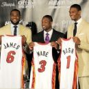 LeBron, Dwayne And Chris: Miami Heat Welcome Party