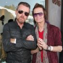 Guitarist Billy Duffy (L) with Glen Hughes attend the 11th Annual John Varvatos Stuart House Benefit at John Varvatos on April 13, 2014 in Los Angeles, California.