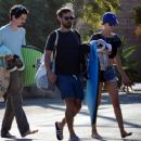 Tatiana Dieteman and Tobey Maguire – Seen on the beach in Malibu - 454 x 363