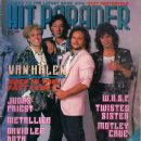 Michael Anthony, Edward Van Halen, Alex Van Halen, Sammy Hagar - Hit Parader Magazine Cover [United States] (May 1986)