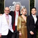 Jim Beach, Brian May of Queen, Lucy Boynton, and Rami Malek At The 76th Annual Golden Globes (2019)