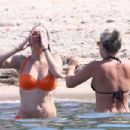 Chelsy Davy in Orange Bikini on holiday in Saint Tropez - 454 x 303