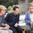 Director/Producer Jay Roach (left) confers with Stephanie Szostak (as Julie, far left) with Paul Rudd (as Tim, center) and Steve Carell (as Barry, far right) on the set of Paramount Pictures/DreamWorks Pictures/Spyglass Entertainment's comedy, 'Di
