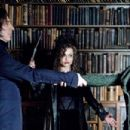 (L-r) ALAN RICKMAN as Severus Snape, HELENA BONHAM CARTER as Bellatrix Lestrange and HELEN McCRORY as Narcissa Malfoy in Warner Bros. Pictures' fantasy 'Harry Potter and the Half-Blood Prince.' Photo by Jaap Buitendijk