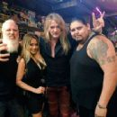 Sebastian Bach with wife Suzanne Le hangin' out with Lamb Of God's bassist John Campbell