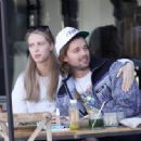 Abby Champion and Patrick Schwarzenegger – Spotted while out for lunch at Kreation in Brentwood - 454 x 333