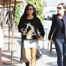 Christina Milian  out to lunch with friends at Il Pastaio in Beverly Hills, California on January 11, 2017 - 454 x 599