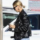 Hailey Bieber – Heading to IPIC Movie theater in Westwood
