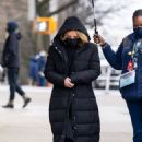 Selena Gomez – With Amy Ryan on the set of 'Only Murders in the Building' in New York