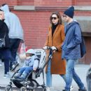 Anne Hathaway with husband Adam – Out in Chelsea in New York City - 454 x 507