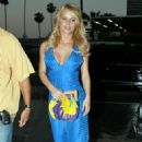 Jessica Simpson Dressed In Blue In Hollywood, June 29 2007