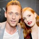Jessica Chastain and Tom Hiddleston