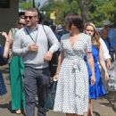 Candice Brown and fiance Liam Macaulay – Arriving at Wimbledon Tennis Tournament in London - 454 x 602