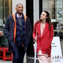 Keira Knightley film scenes for the upcoming movie 'Collateral Beauty' in New York City, New York on April 1, 2016