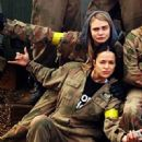 Cara Delevingne introduces Michelle Rodriguez to her UK pals after paintball fun - January 31, 2013