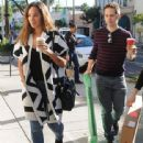 British singer Leona Lewis stops by a Starbucks for a coffee in Beverly Hills, California on December 13, 2014 - 442 x 594