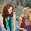 Emma Stone as 'Olive Penderghast' and Patricia Clarkson as Olive's mother, 'Rosemary' in Screen Gems' EASY A. Photo By: Adam Taylor