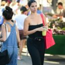Roselyn Sanchez in Long Black Dress – Shopping at the Farmers Market in Studio City - 454 x 695