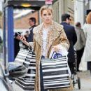 Suki Waterhouse in Animal Print Coat – Shopping in Notting Hill - 454 x 742