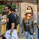 Jessica Chastain and her husband Gian Luca Passi de Preposulo at Disneyland - 454 x 740