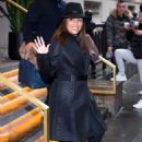 Eva Longoria in Black Coat out in NYC - 454 x 681
