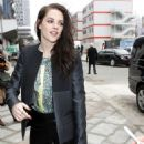 Kristen Stewart Rocks Daring Leather Pants For Balenciaga Paris Fashion Week Show
