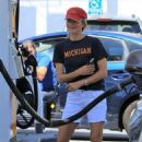Selma Blair at a gas station in Studio City