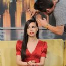 Sofia Carson in Red Dress at Good Day New York Studios in NY - 454 x 681