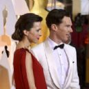 Benedict Cumberbatch and his wife Sophie Hunter - February 22, 2015 - Arrivals at the 87th Annual Academy Awards