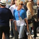 Pamela Anderson United States Formula One Grand Prix at Circuit of The Americas on November 2, 2014 Austin,Tx