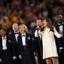 Lea Michele - Super Bowl XLV at Cowboys Stadium in Arlington, Texas - February 6, 2011