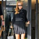 Paris Hilton in Black Mini Dress Out in LA
