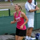 Maria Sharapova - Practising Football At Wimbledon, 28.06.2010