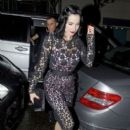 Dita Von Teese leaving the Playboy Club in Mayfair, London
