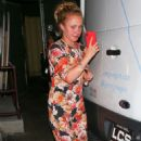 Hayden Panettiere in Floral Dress – Leaves restaurant in Hollywood - 454 x 681