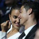 Irina Shayk showing some skin at an awards show with Cristiano Ronaldo (August 30)