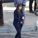 Zooey Deschanel – On set filming 'New Girl' in Los Angeles - 454 x 604