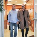 Sylvester Stallone and Jason Statham Grab Lunch in Beverly Hills - 454 x 568