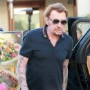 French Singer Johnny Hallyday and his wife, actress Laeticia Hallyday were seen taking their family out for a day dinner in West Hollywood, California on March 25, 2017. The Hallyday family went to Cecconi's, Urth Cafe, and Restoration Hardware - 450 x 600
