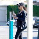 Naya Rivera at a gas station in Los Feliz