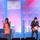 Ledisi Anibade Young and Guitarist Richie Sambora perform onstage at the Songwriters Hall Of Fame 46th Annual Induction And Awards at Marriott Marquis Hotel on June 18, 2015 in New York City. - 454 x 342