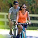 Lea Michele – Bike Riding in The Hamptons - 454 x 654