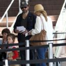 Rachel McAdams and Michael Sheen catching a flight out of LAX (August 9)