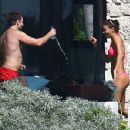 Water flirt! Bradley Cooper soaks girlfriend Irina Shayk on romantic Caribbean holiday