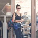 Alessandra Ambrosio in Tights and Sports Bra – Leaves the gym in Brentwood - 454 x 681