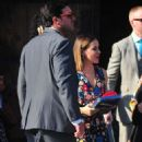 Alyssa Milano with David Bugliari to the Television Industry Advocacy Awards at TAO Hollywood - 454 x 852