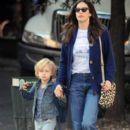 Liv Tyler Walking Milo To School In New York