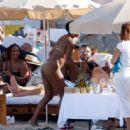 Gabrielle Union in Green Bikini at a beach in Ibiza - 454 x 315