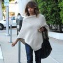 Halle Berry In Poncho Out In Los Angeles